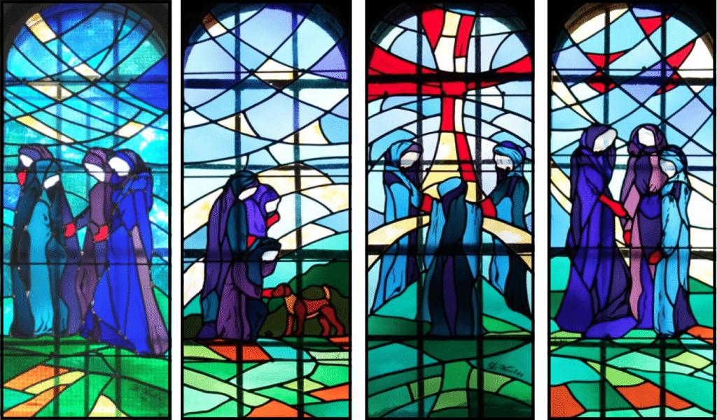 Vitraux de la chapelle Saint-Roch - création de Claire Henry