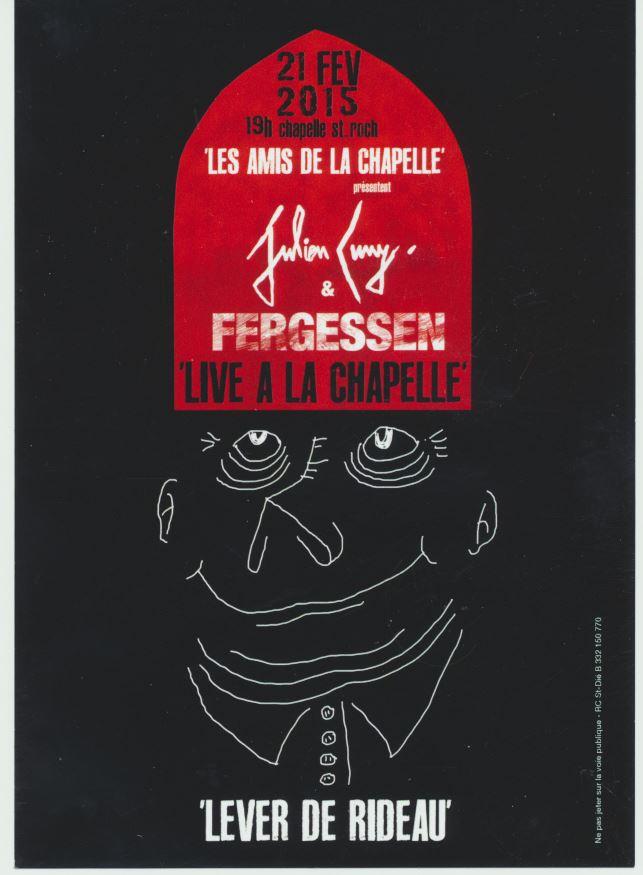 Affiche de Julien CUNY pour la soirée du 21 février 2015