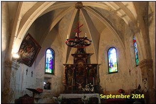 Intérieur de la chapelle en septembre 2104