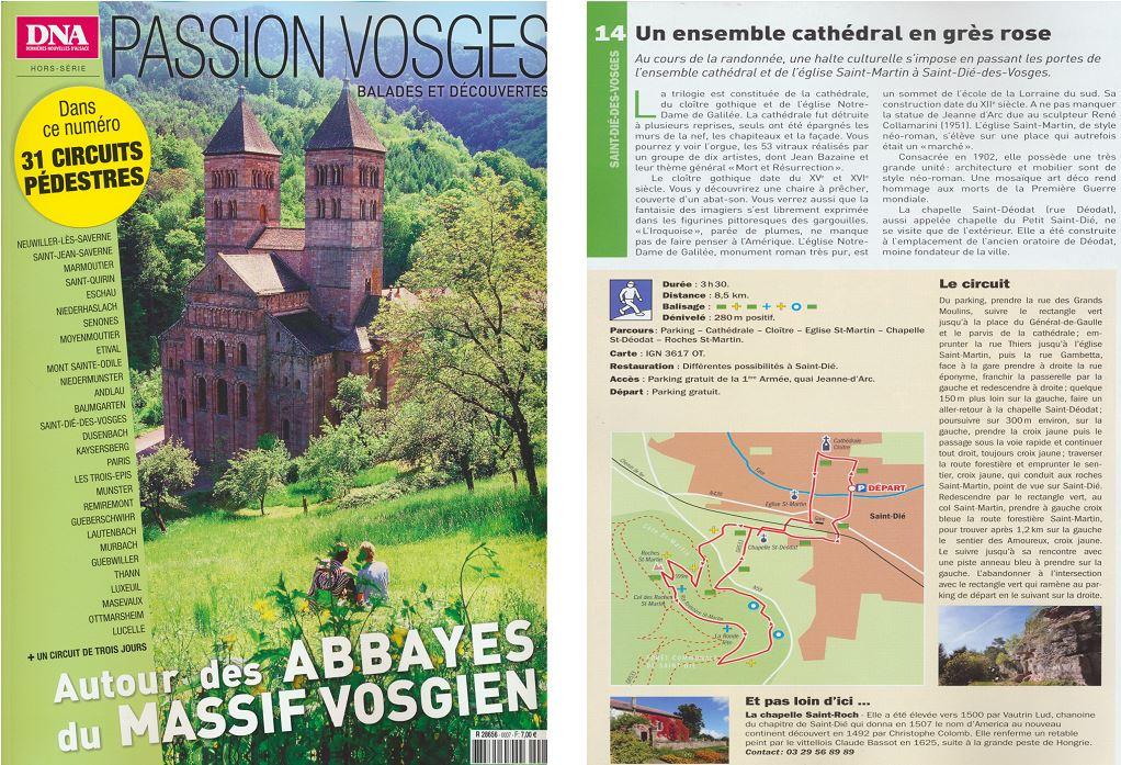 Couverture du magazine et page consacrée à Saint-Dié