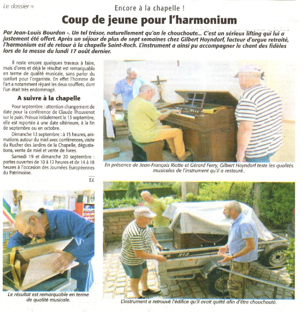 Encore à la chapelle Echo des Vosges 20-8-2015