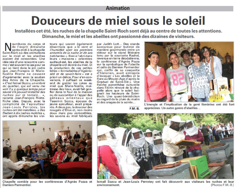 Vosges Matin - 16 septembre 2015