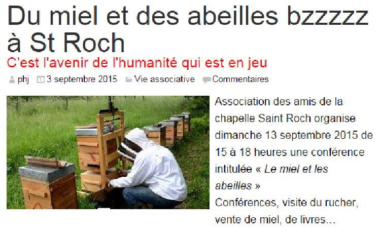 Du miel et des abeilles bzzzzz à St Roch - Saint-Dié Info du 3 septembre 2015