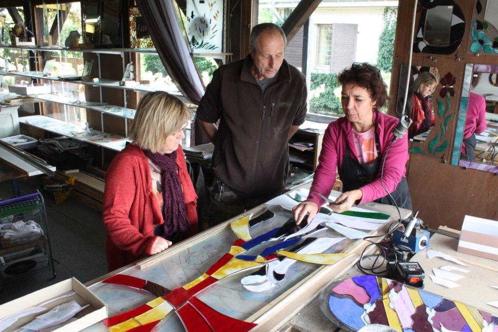 Claire Henry dans son atelier de La Voivre - 17 Septembre 2013