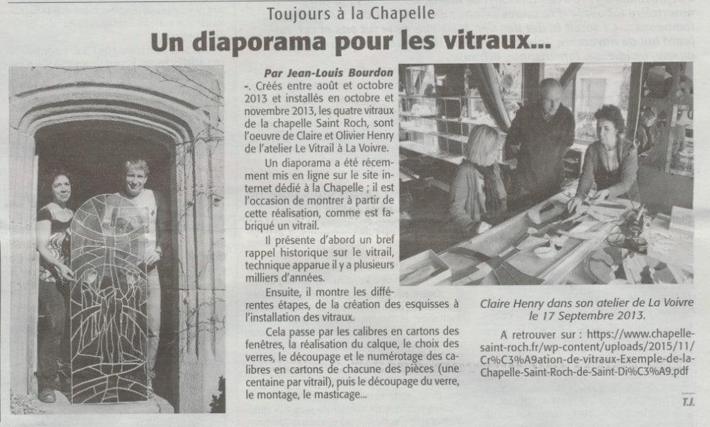 Diaporama des Vitraux Echo des Vosges 19-11-2015