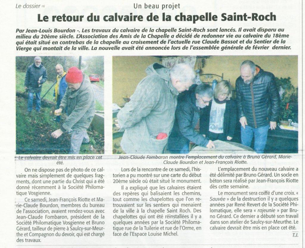Echo des Vosges du 21 avril 2016