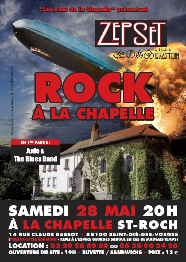 Rock à la Chapelle avec Zepset (Tribute to Led Zeppelin)