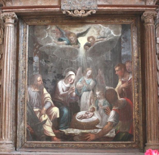 Adoration des berger, église de Coinches