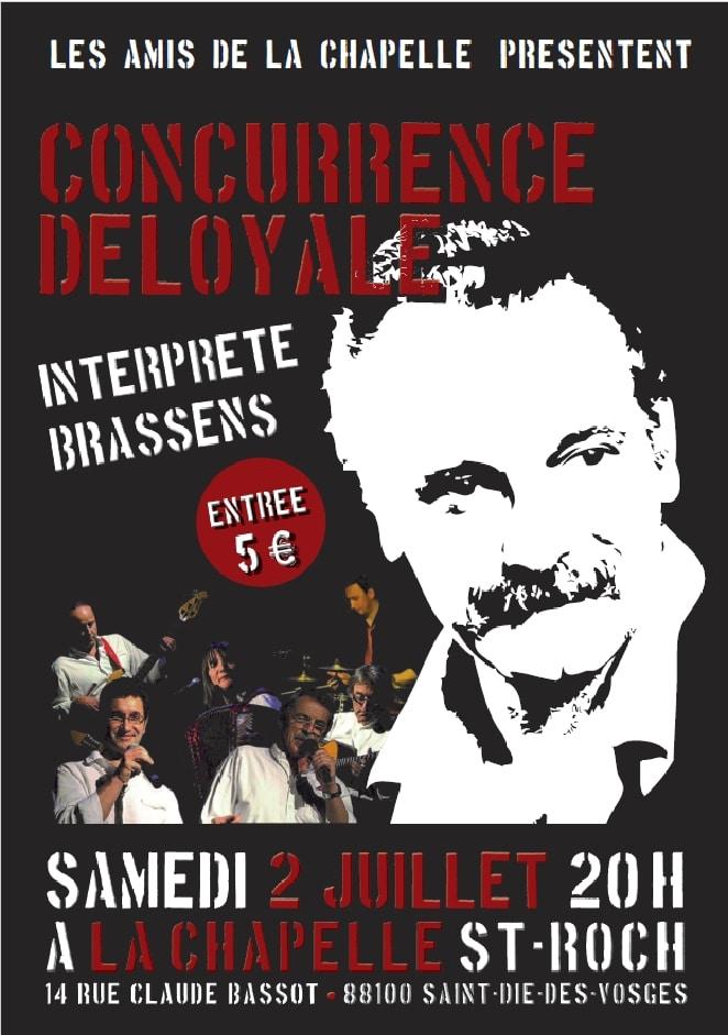 Affiche Concurrence Déloyale 2 juillet 2016