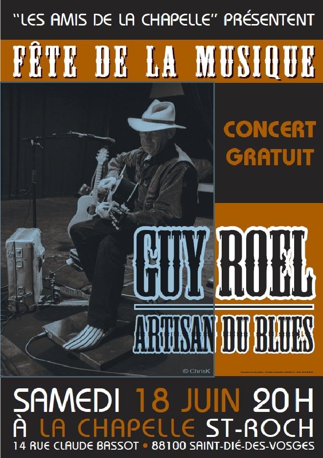 Affiche Guy Roel à la Chapelle