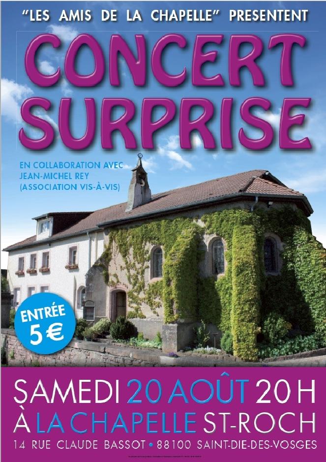 Affiche du concert du 20 août 2016