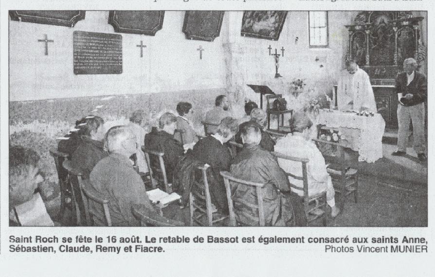 La partie inférieure des 3 tableaux. Photo de Vincent Munier. Article de Michel Urban paru dans l'Est Républicain du 17 août 1999.