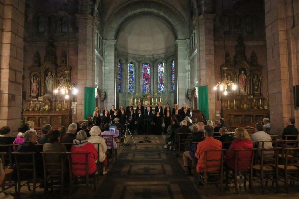 Photo du concert des Chanteurs de Lorraine à l'église Saint-Martin de Saint-Dié.
