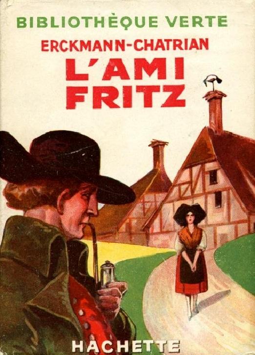 Couverture du roman l'Ami Fritz (Bibliothèque Verte, Editions Hachette, 1949)