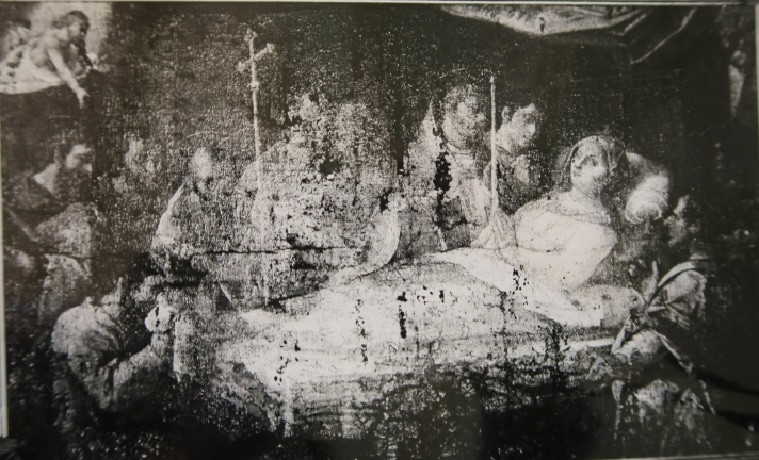 Photo de la Dormition avant sa restauration.