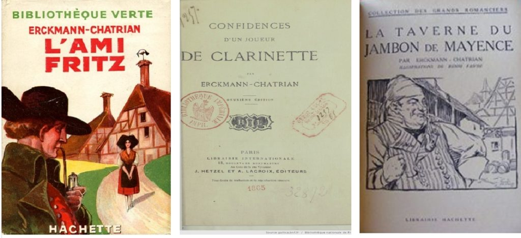 Photos de 3 livres d'Erckmann et Chatrian