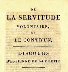 premier page du Discours de la Servitude volontaire