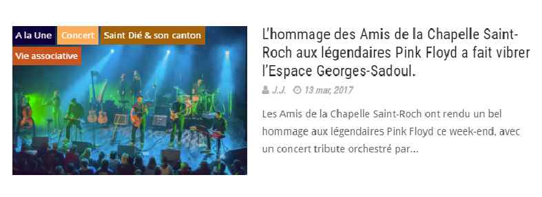 L'article de Saint-Dié Info