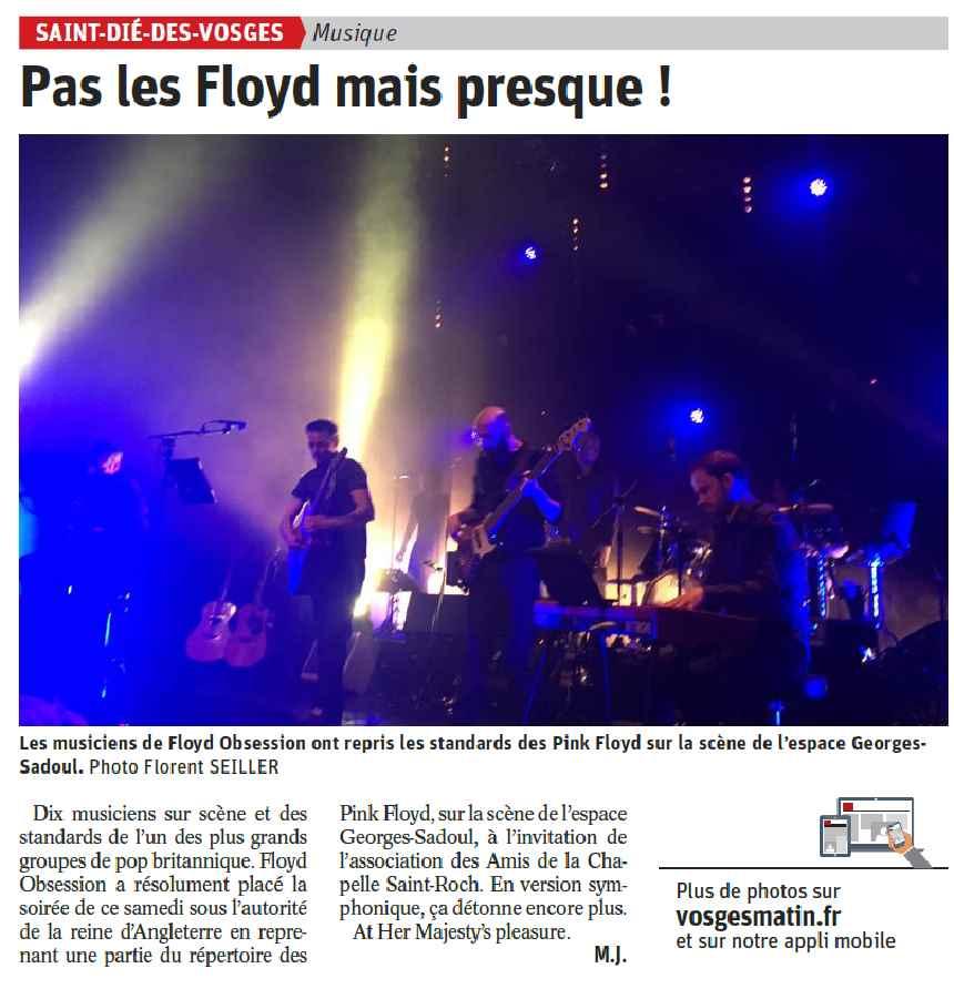 Article de Vosges Matin