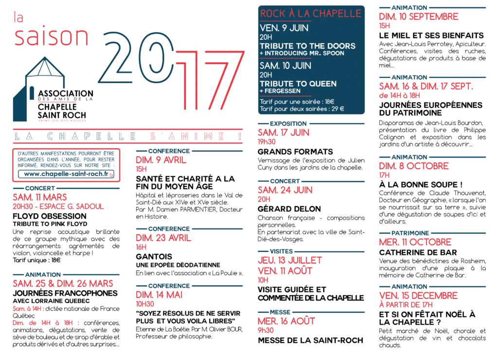 Le programme 2017