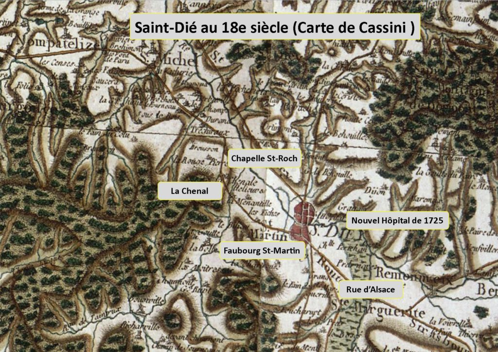 La carte de Cassini de Saint-Dié