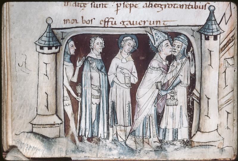 image de Saint Martin embrassant un lépreux