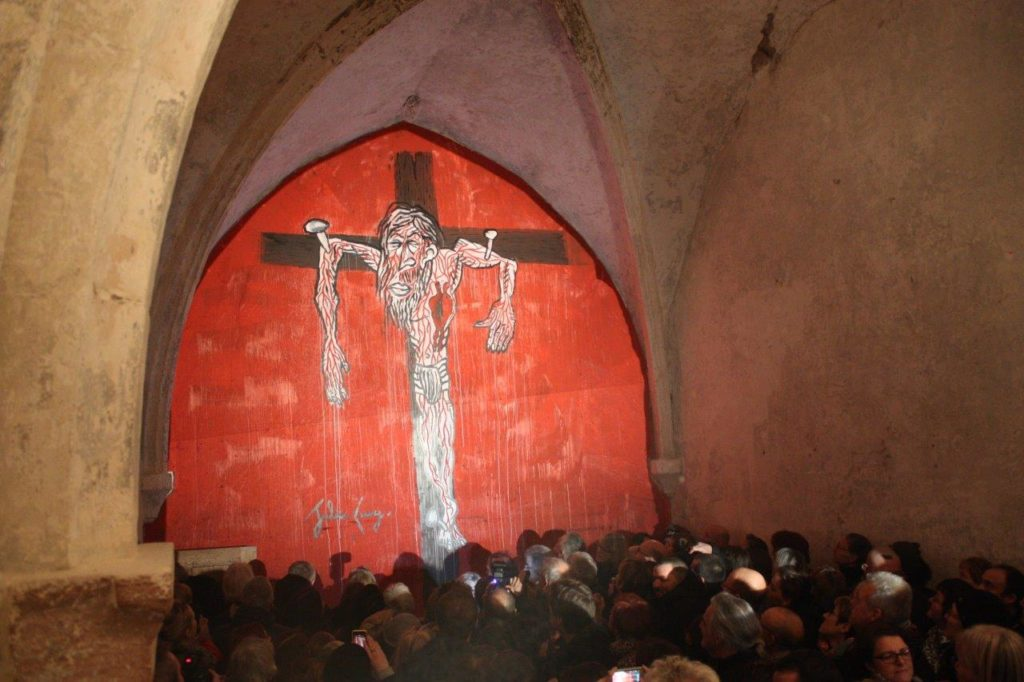 Le Christ en Croix dans l chapelle Saint-Roch le 21 février 2015