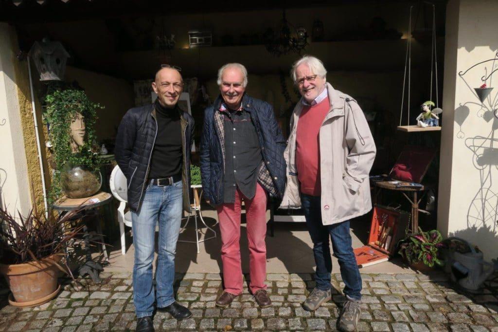 Fabrice Podvin, Philippe Colignon et Marcel Thibaut