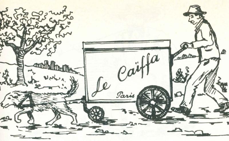 Le caïffa et sa charrette tirée par un chien