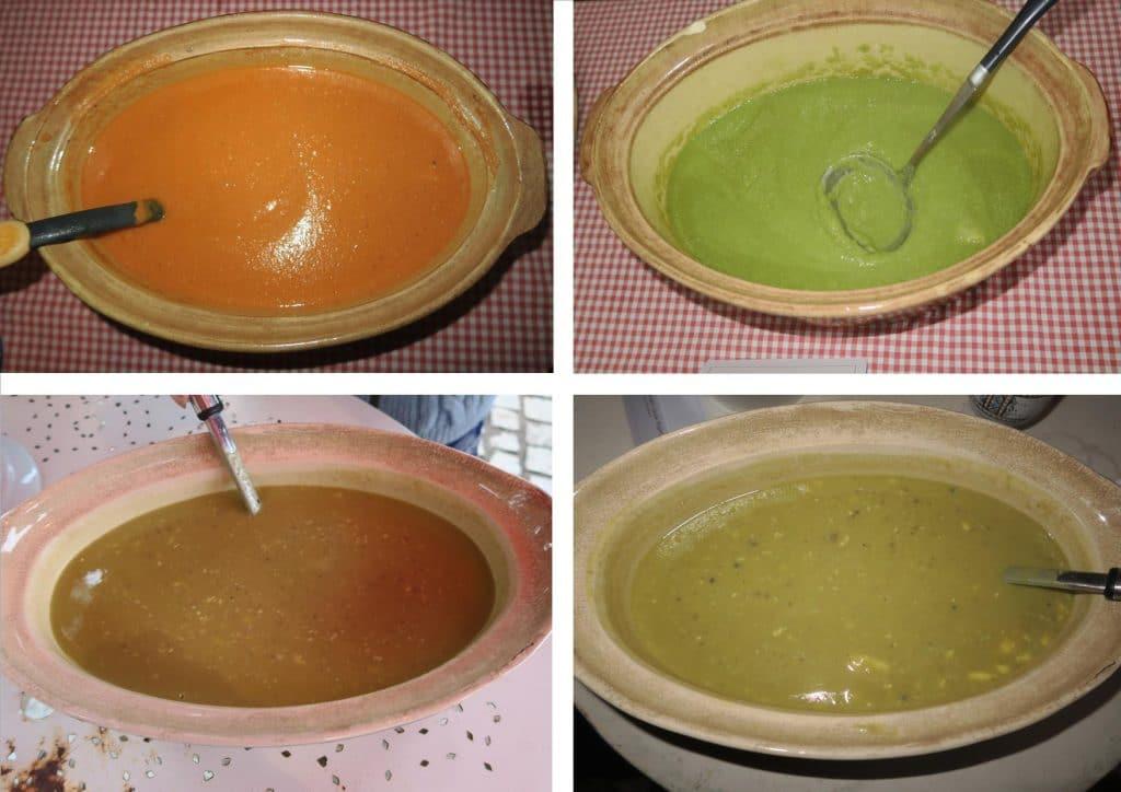 photo des 4 soupes du jour